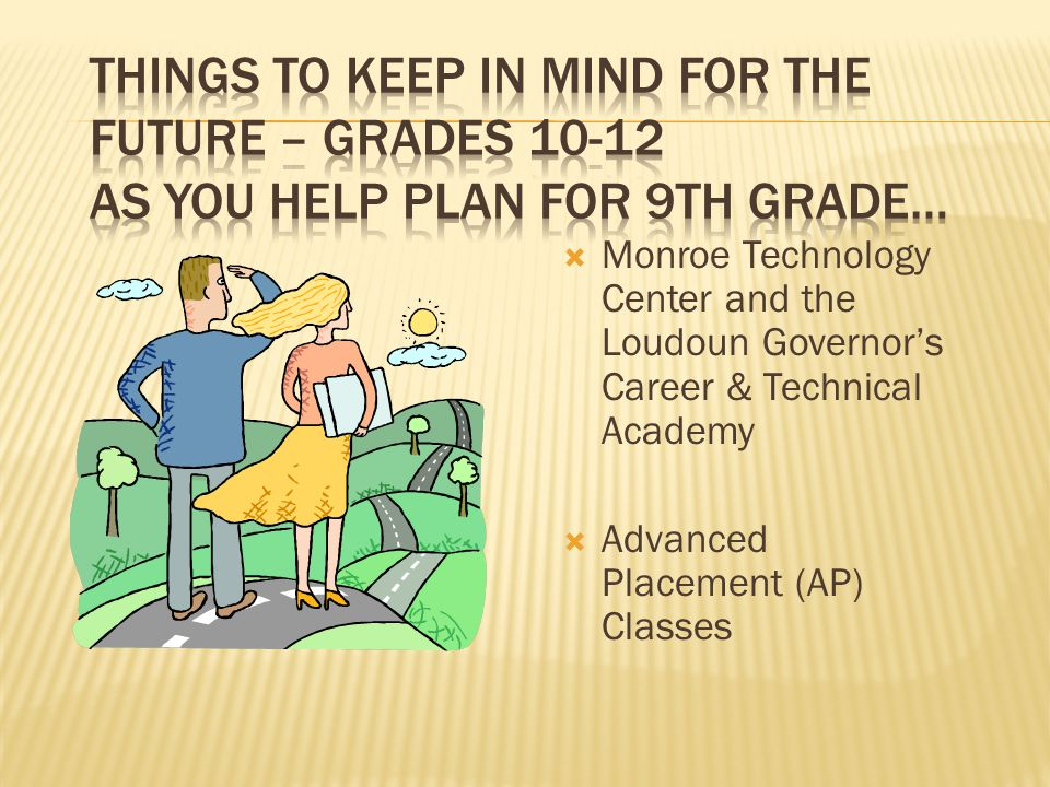  Monroe Technology Center and the Loudoun Governor's Career & Technical Academy  Advanced Placement (AP) Classes