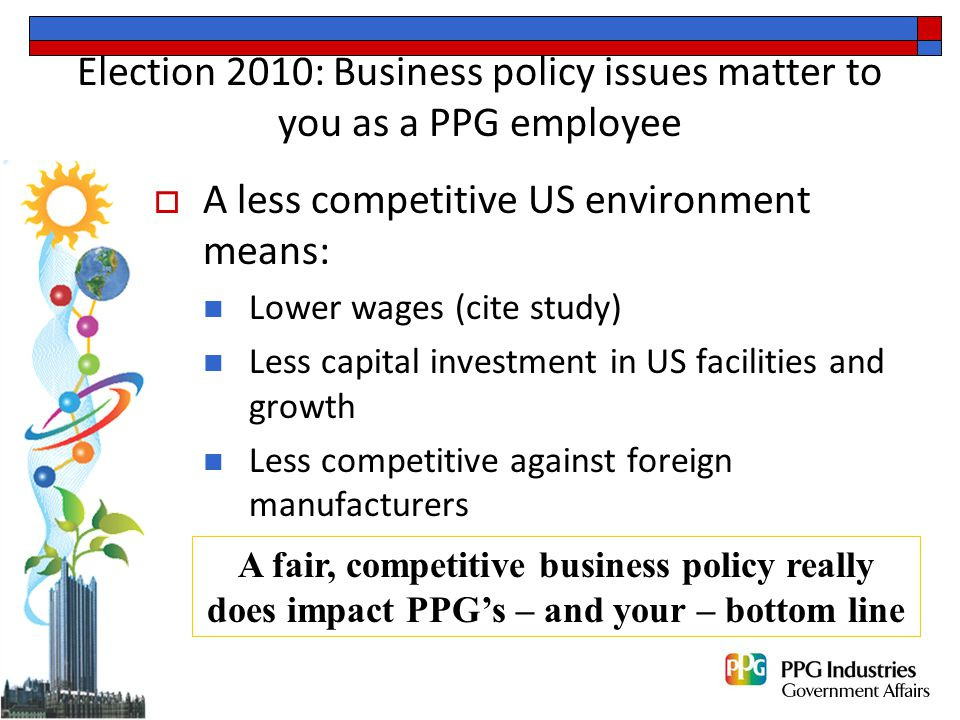 How can we learn about where candidates have voted and stand on business policy issues.