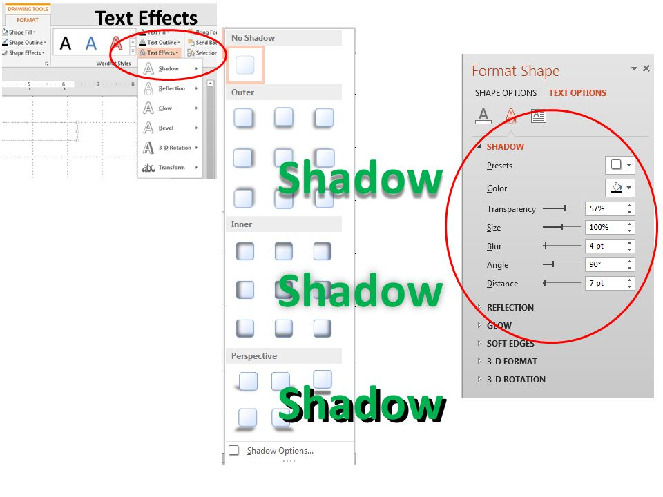 Text Effects ShadowShadow Shadow