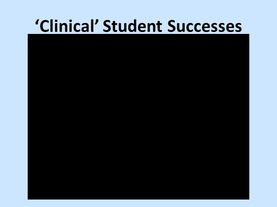 'Clinical' Student Successes