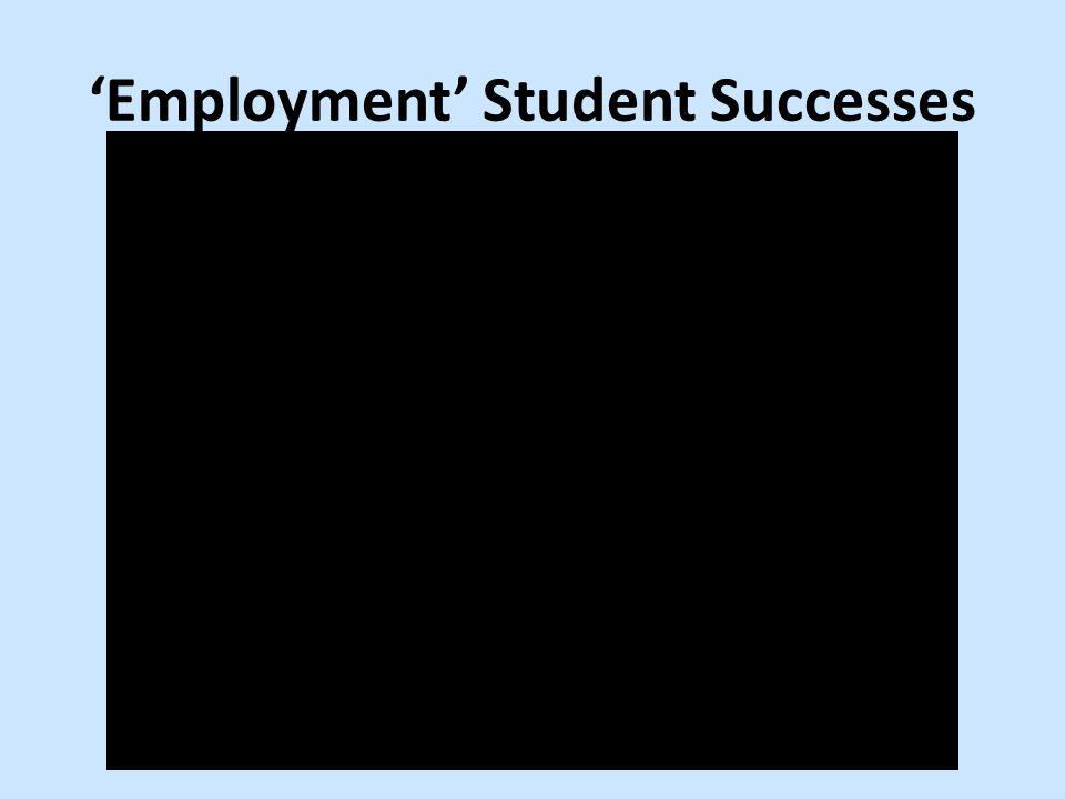 'Employment' Student Successes