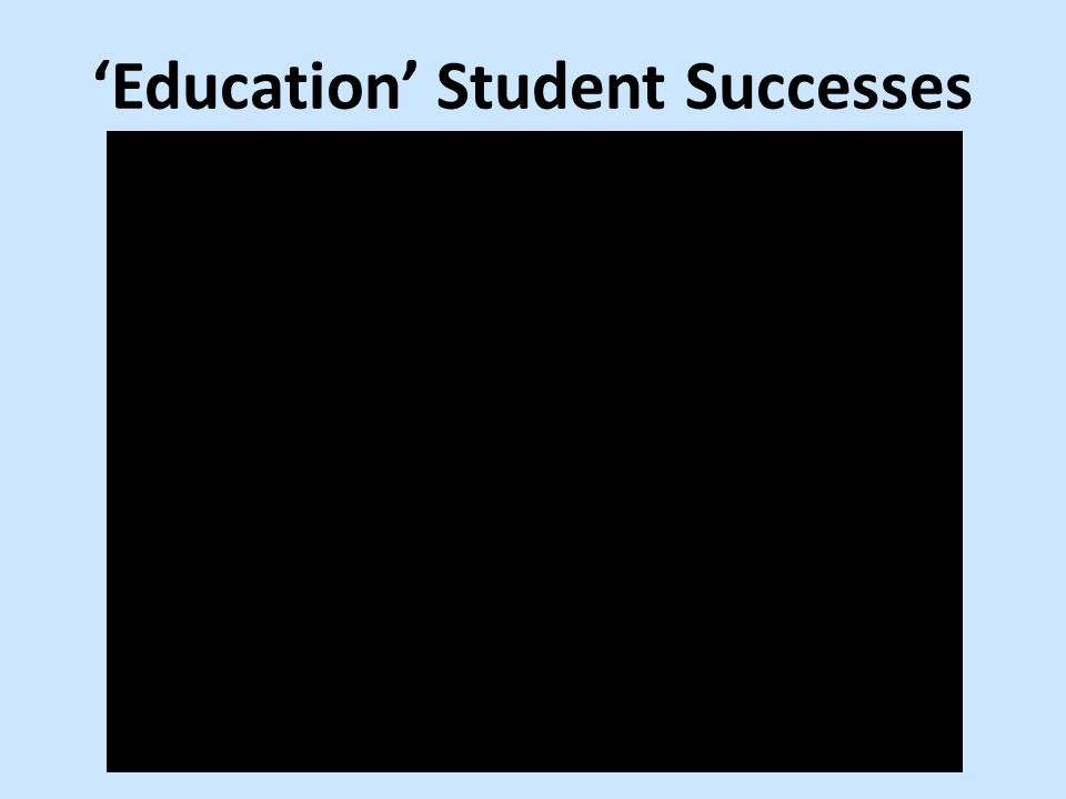 'Education' Student Successes