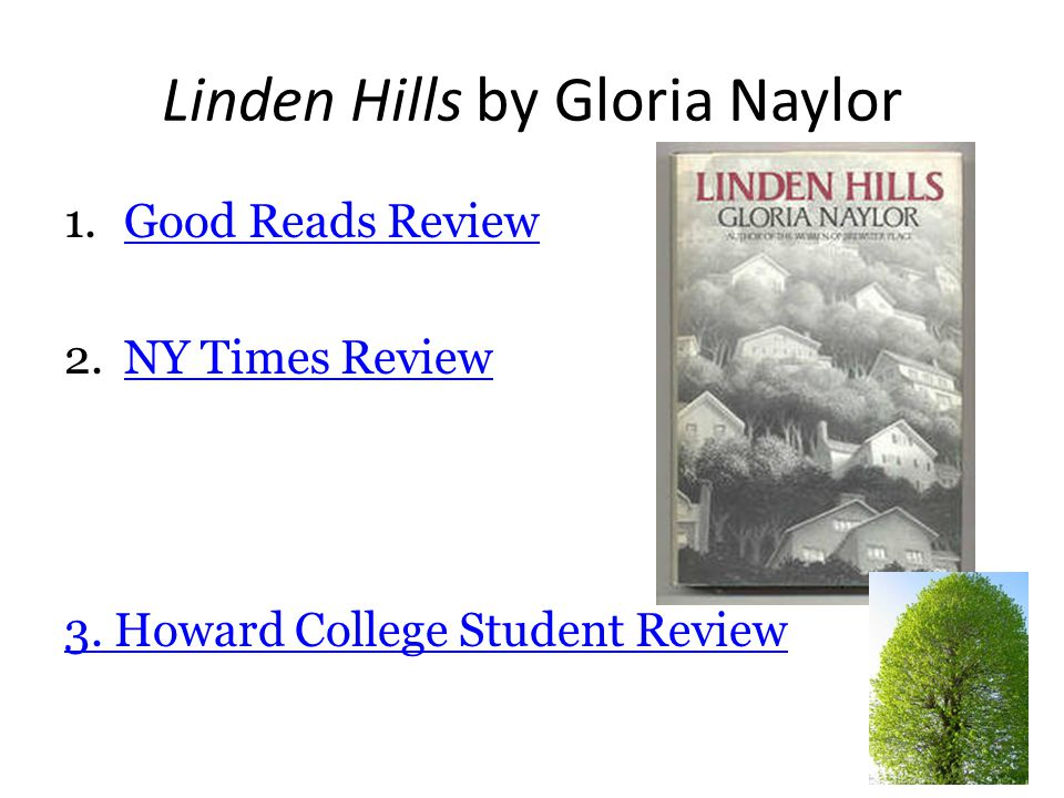 1/14/13 Page 1 Linden Hills Historian/ Cartographer A fictional locale somewhere in the US.