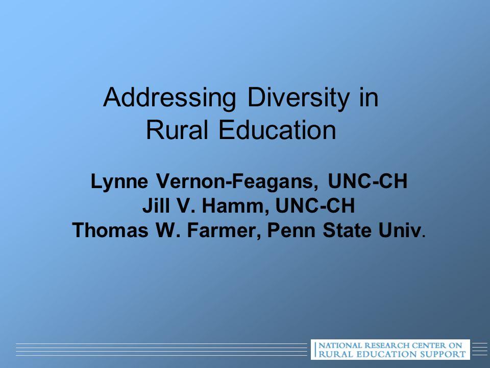 Addressing Diversity in Rural Education Lynne Vernon-Feagans, UNC-CH Jill V.