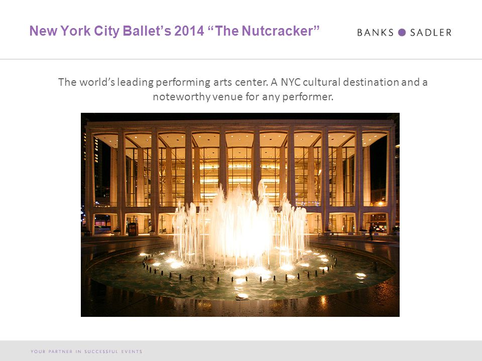 New York City Ballet's 2014 The Nutcracker The world's leading performing arts center.