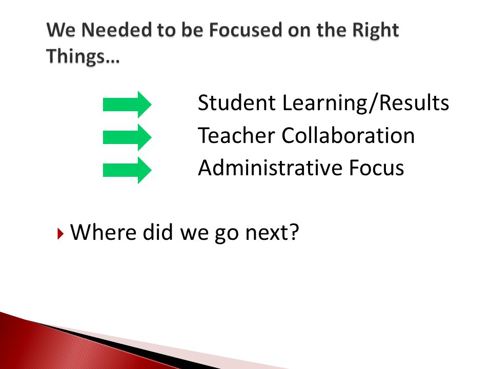 Consists of all School Counselors at each level-Elementary, Middle, High  Meet weekly for 60 minutes ◦ Identify Power Standards ◦ Focus Lessons ◦ Checking for Understanding ◦ Analyzing Data