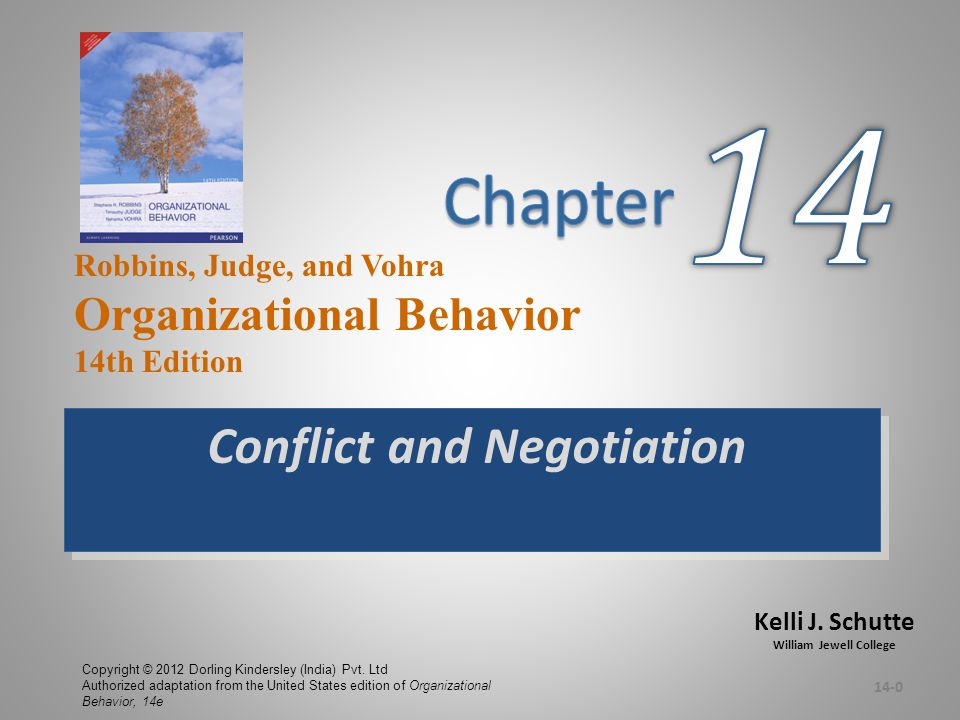 Stage IV: Behavior  Conflict Management –The use of resolution and stimulation techniques to achieve the desired level of conflict  Conflict-Intensity Continuum 14-11 E X H I B I T 14-3 Source: Based on S.P.