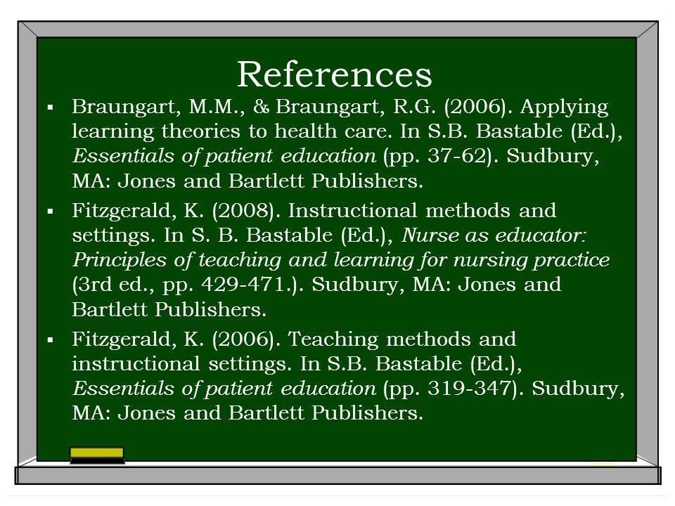 References  Braungart, M.M., & Braungart, R.G.(2006).