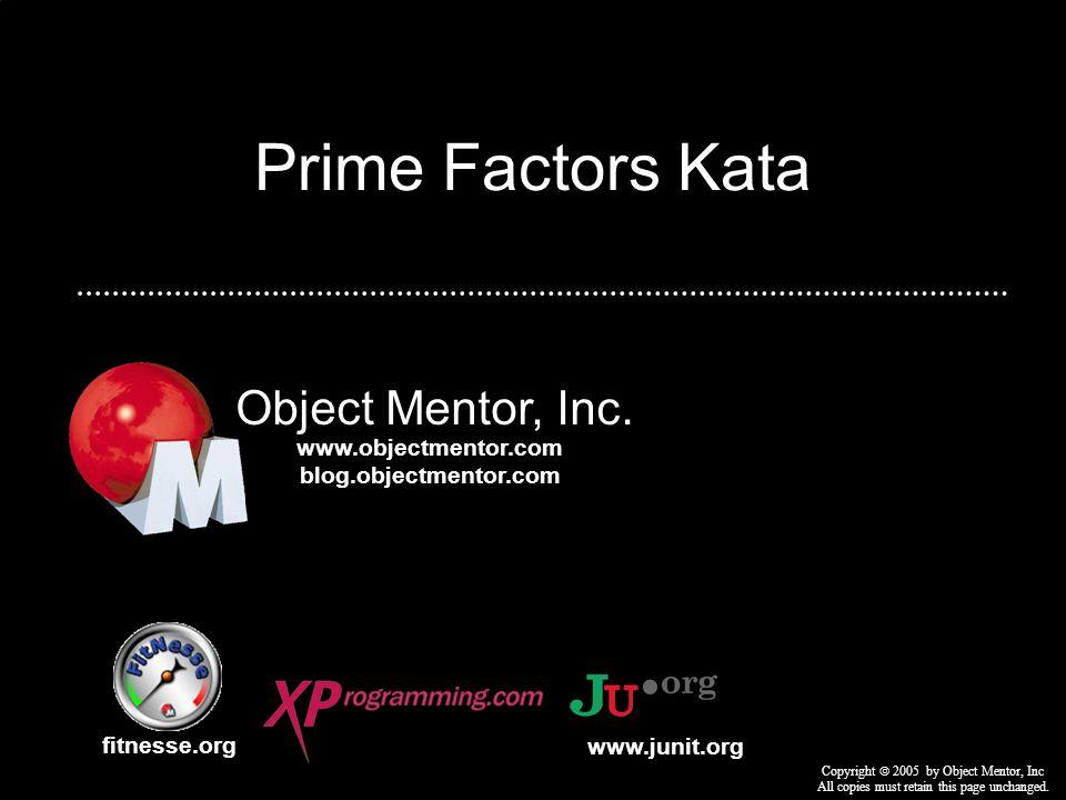 Generating Prime Factors.