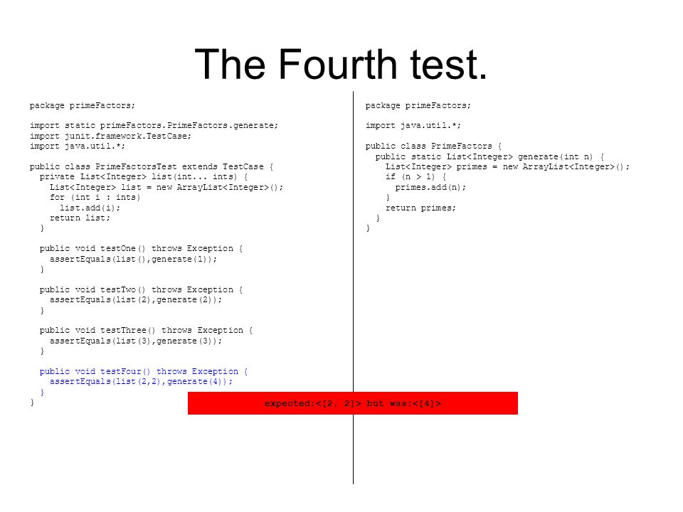 The Fourth test.