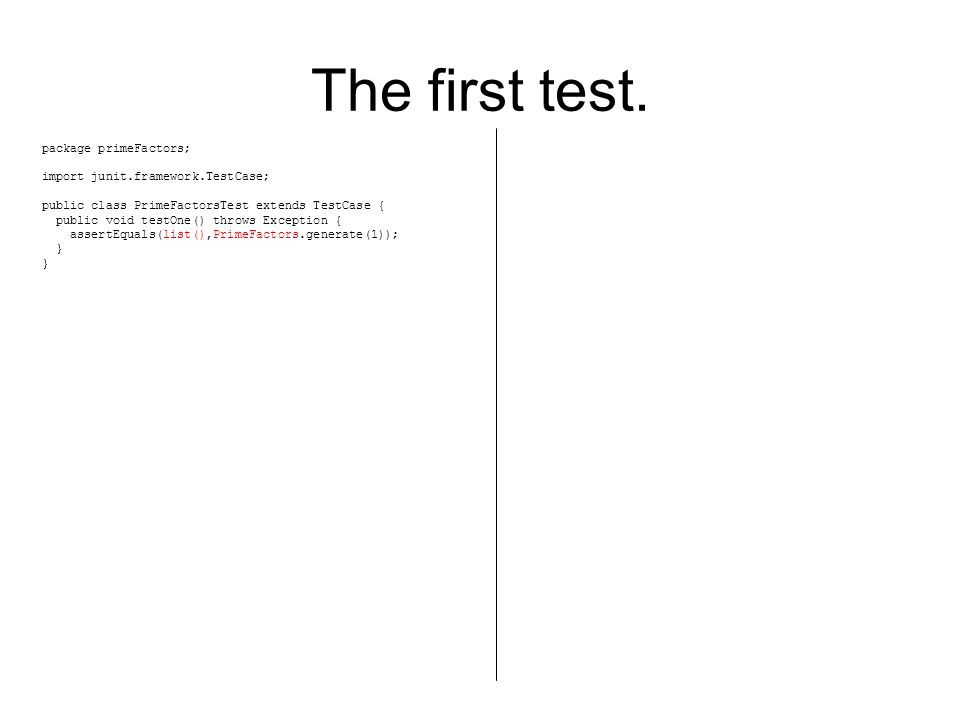 The Sixth test.