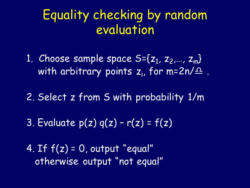 n prime means half of a's satisfy a (n-1)/2 = -1 mod n a (n-1)/2 = -1 mod n If n is prime, then Z n * has a generator g.