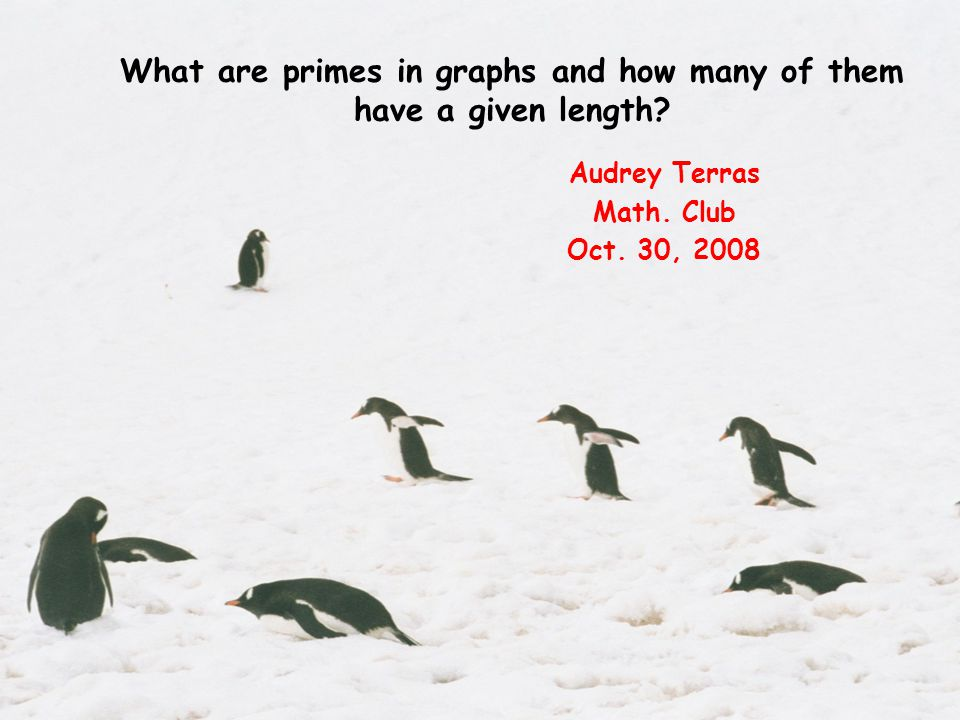 What are primes in graphs and how many of them have a given length.