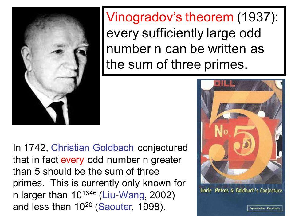 Chen's theorem (1966).