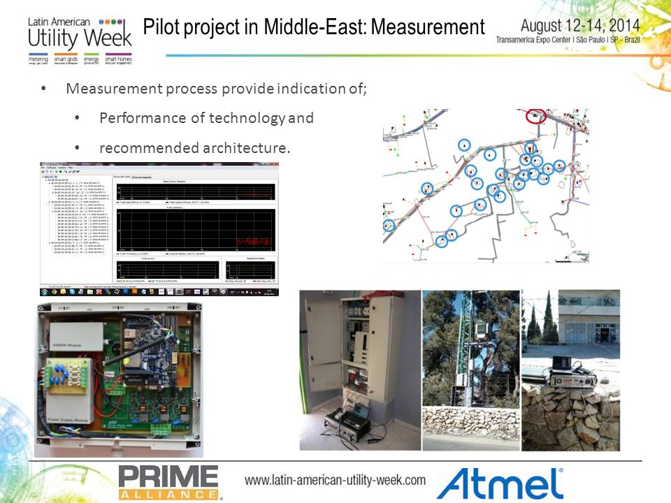 Pilot project in Middle-East: Measurement Measurement process provide indication of; Performance of technology and recommended architecture.