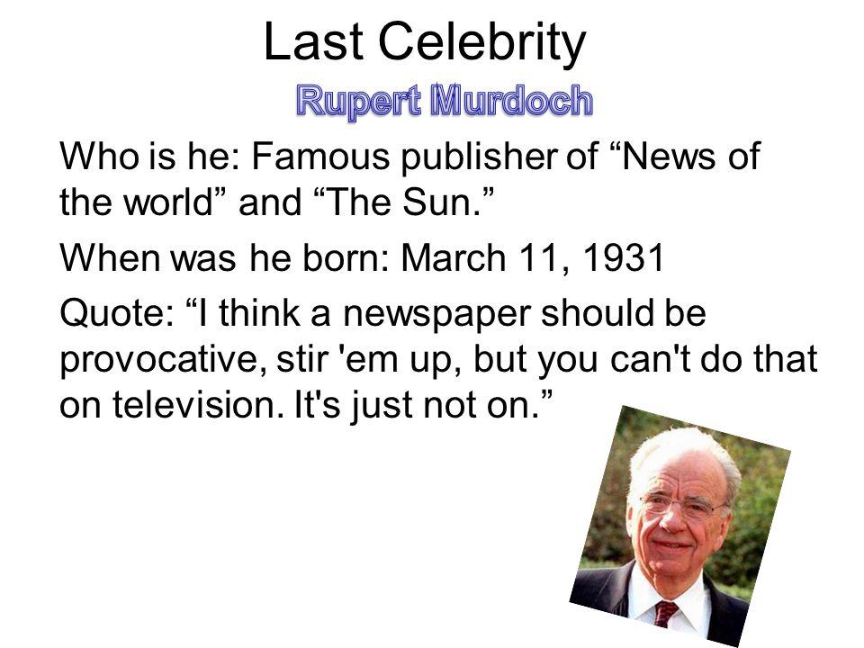 Last Celebrity