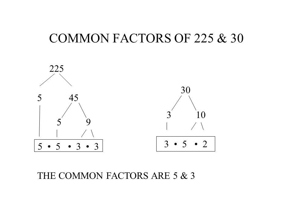 IDENTIFY COMMON FACTORS 3 5 2 7 5 2 17