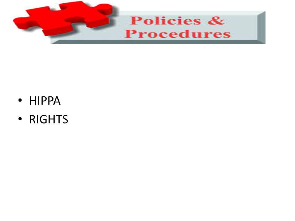 HIPPA RIGHTS