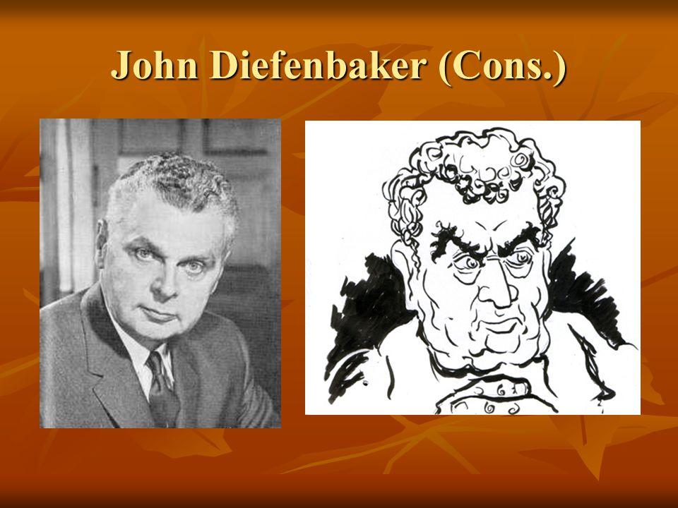 John Diefenbaker (Cons.)