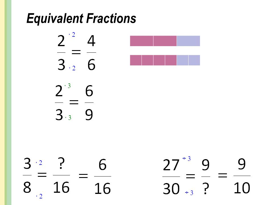 Equivalent Fractions ∙ 2 ∙ 3 ∙ 2 ÷ 3