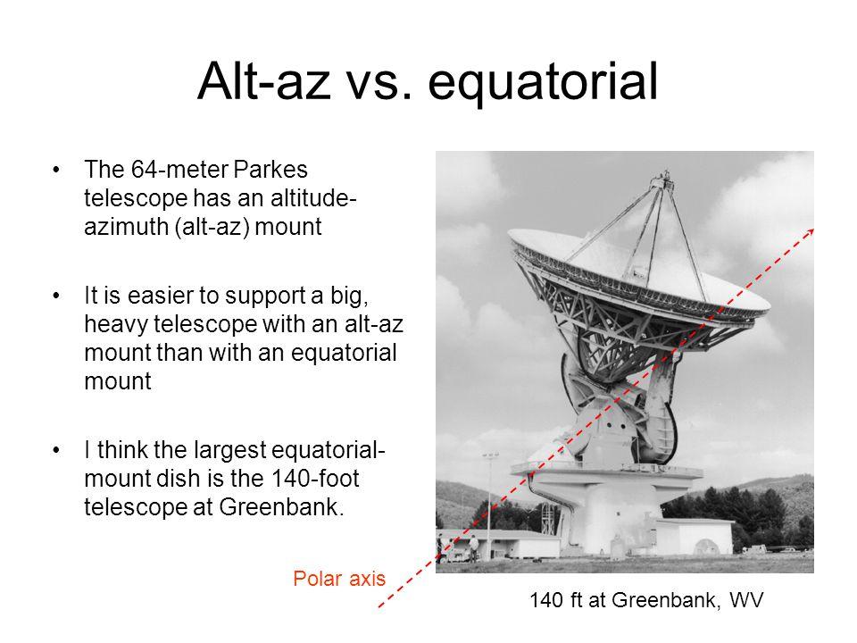 Alt-az vs.