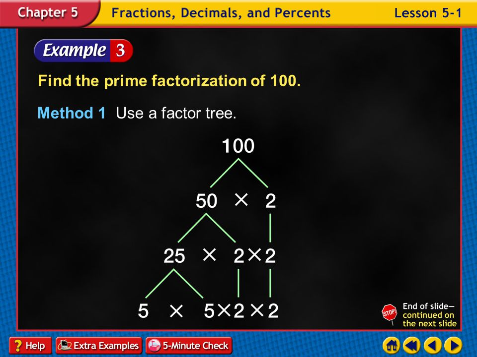 Example 1-2b Determine whether the number 24 is prime or composite. Answer: composite