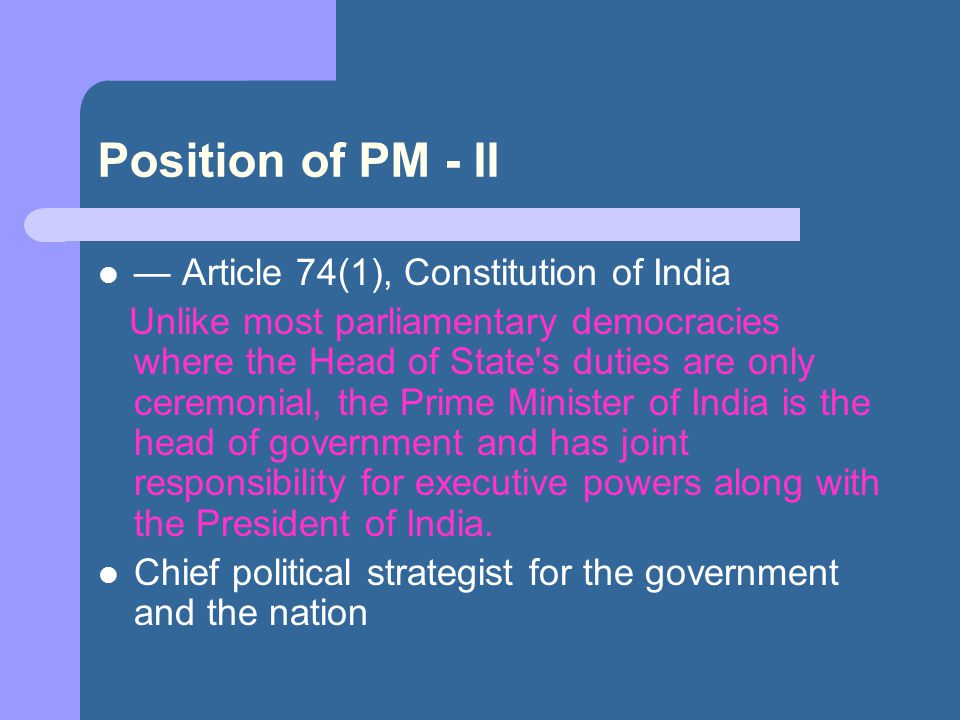 Can Indian PM be a Dictator.