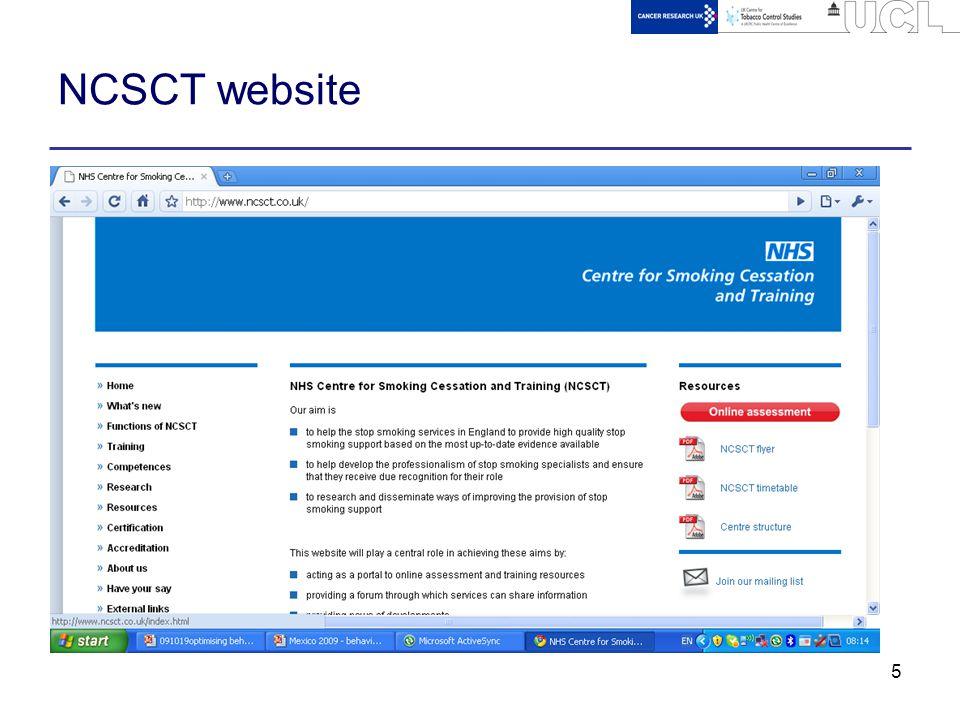 5 NCSCT website