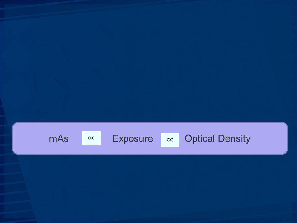 mAs Exposure Optical Density