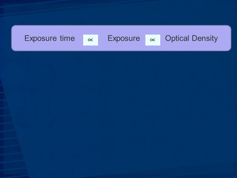 Exposure time Exposure Optical Density
