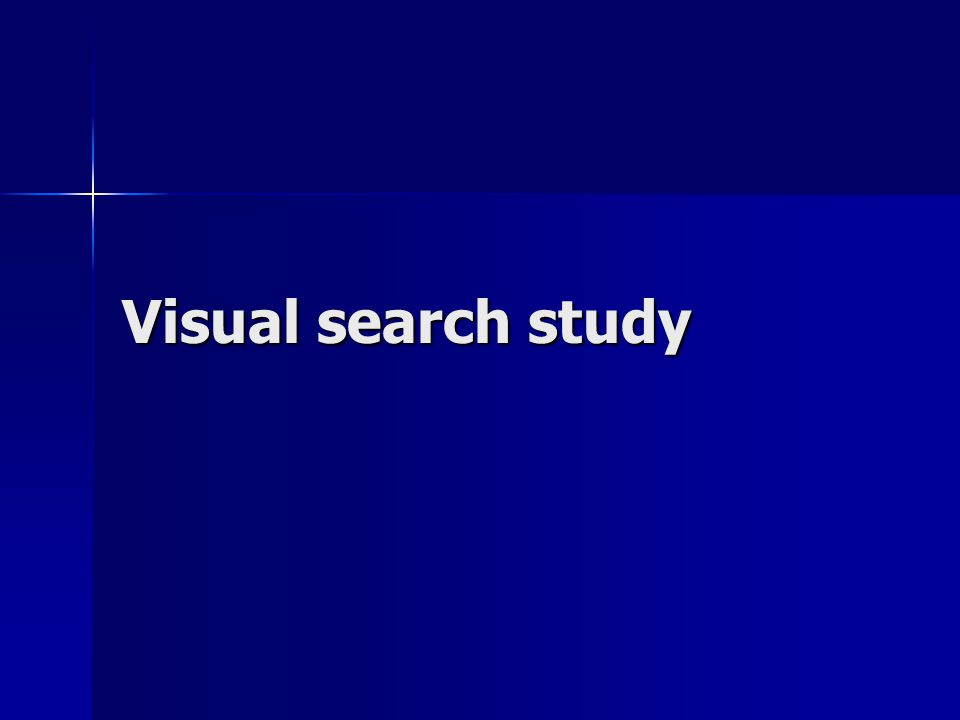 Visual search study