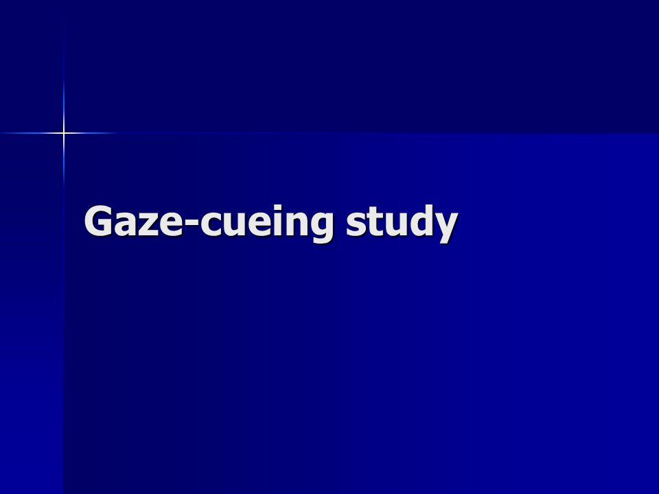Gaze-cueing study