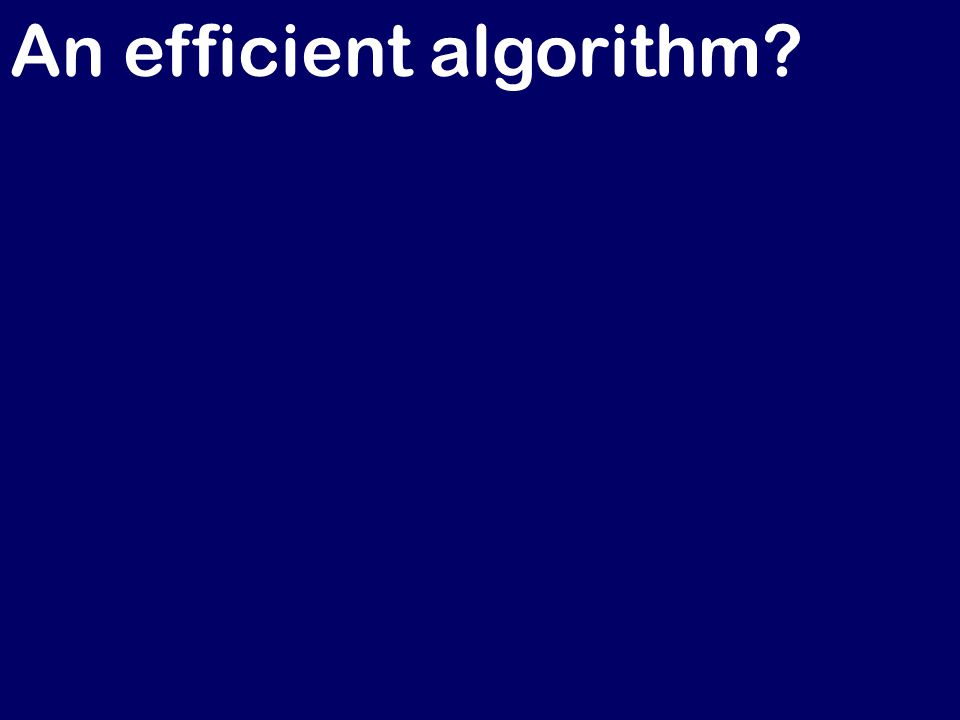 An efficient algorithm