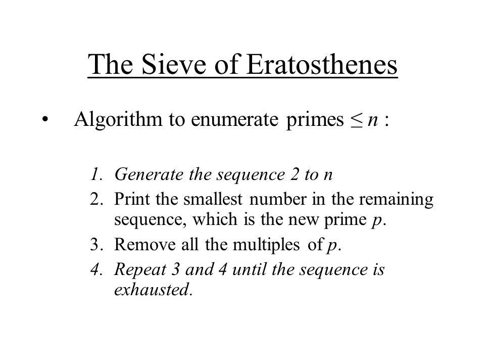 (cont'd) (define (sieve l) (define (remove-multiples n l) (if (null.