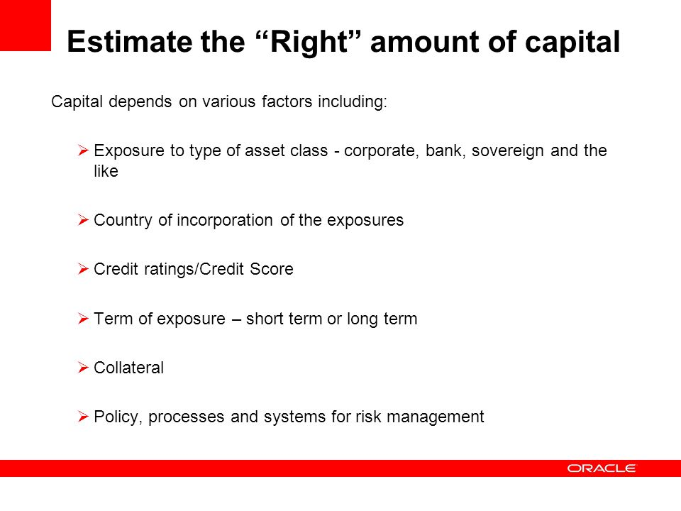 ERM and Capital can i mpact growth ambitions and funding cost  Impact on Growth:  Asset growth would require additional capital  Additional capital required depends on growth in risk weights and not just asset growth  Cost of Funds:  Lower wholesale deposit rates for banks that demonstrate good risk management systems and adequate capital  No substantial impact on retail deposit rates