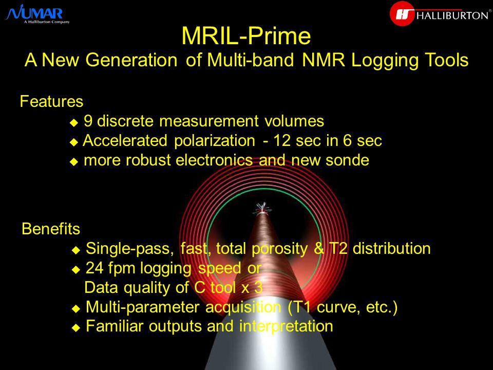 MRIL-Prime is Fast  NUMAR Corp., 1995 Series C senses two fluid volumes PRIME senses nine fluid volumes 4X Fluid Volume = 4X Speed
