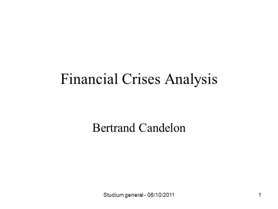 Bertrand Candelon Financial Crises Analysis 1Studium general - 06/10/2011
