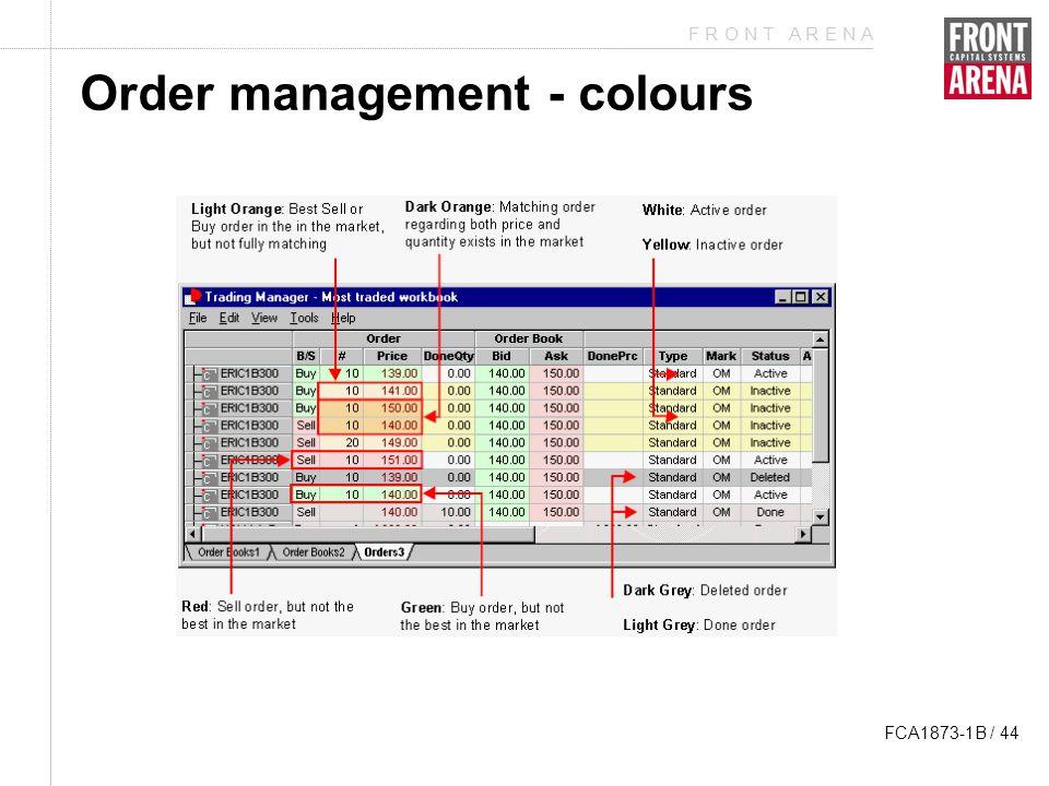 F R O N T A R E N A FCA1873-1B / 44 Order management - colours