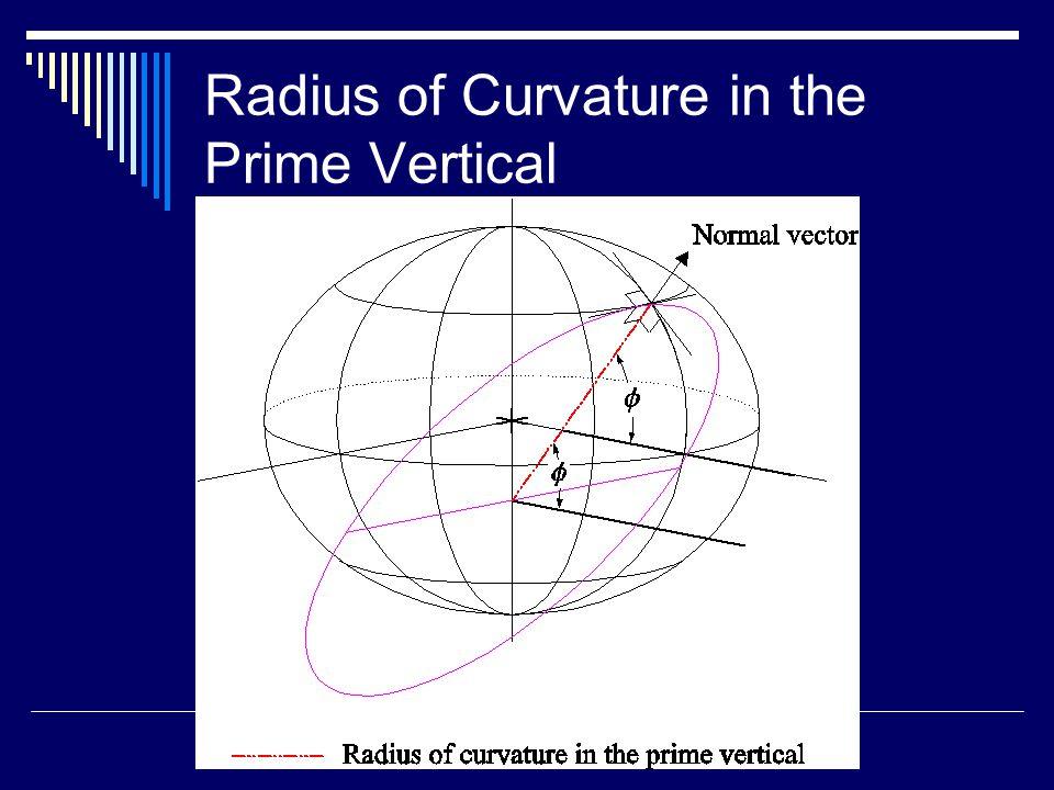 Radius of Curvature in the Prime Vertical