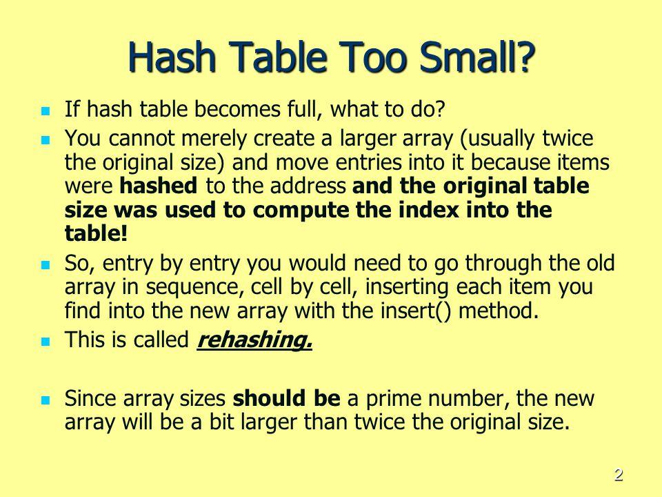 23 Non-Random Keys = undertake digit analysis Select your hash keys very carefully.