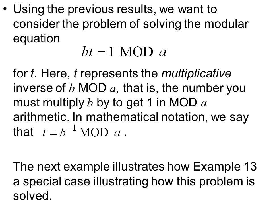 Using the previous results, we want to consider the problem of solving the modular equation for t.