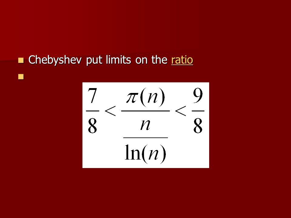 Chebyshev put limits on the ratio Chebyshev put limits on the ratioratio