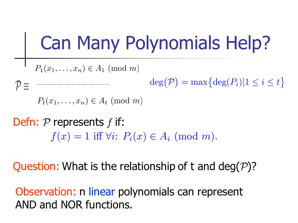 Can Many Polynomials Help.