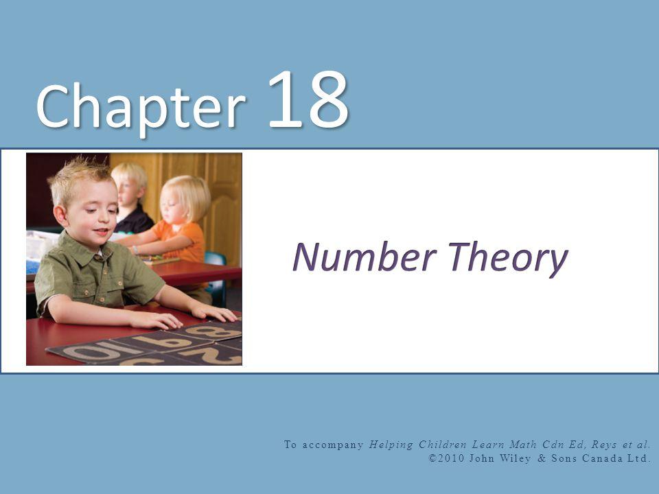 Chapter 18 To accompany Helping Children Learn Math Cdn Ed, Reys et al.