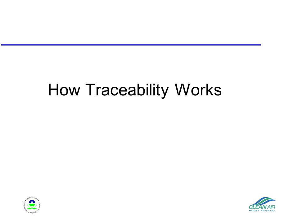How Traceability Works