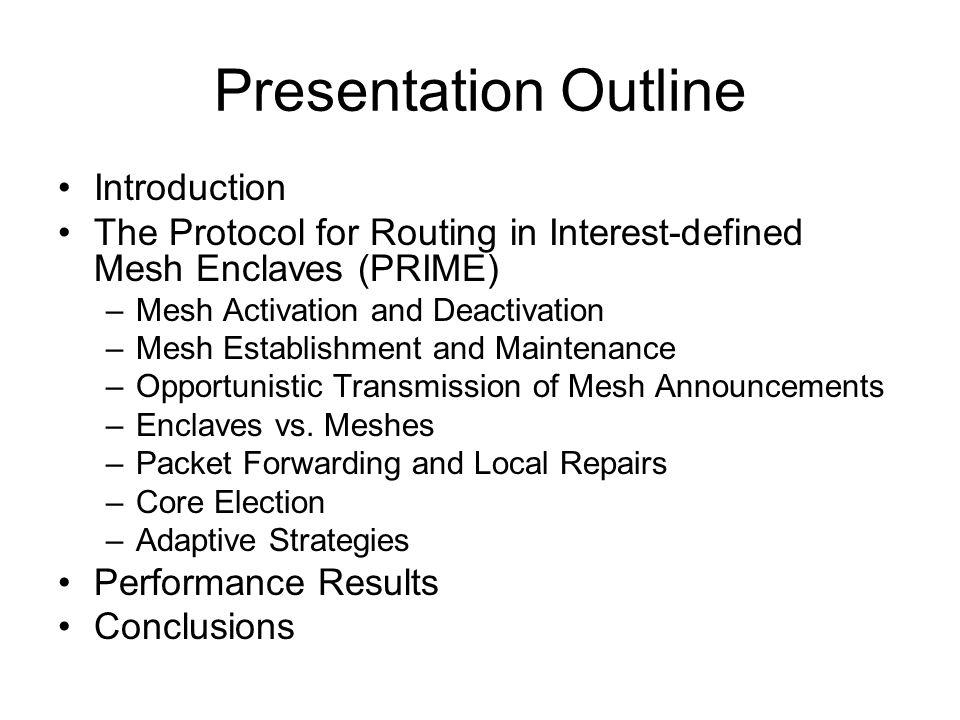 PRIME: Packet Forwarding