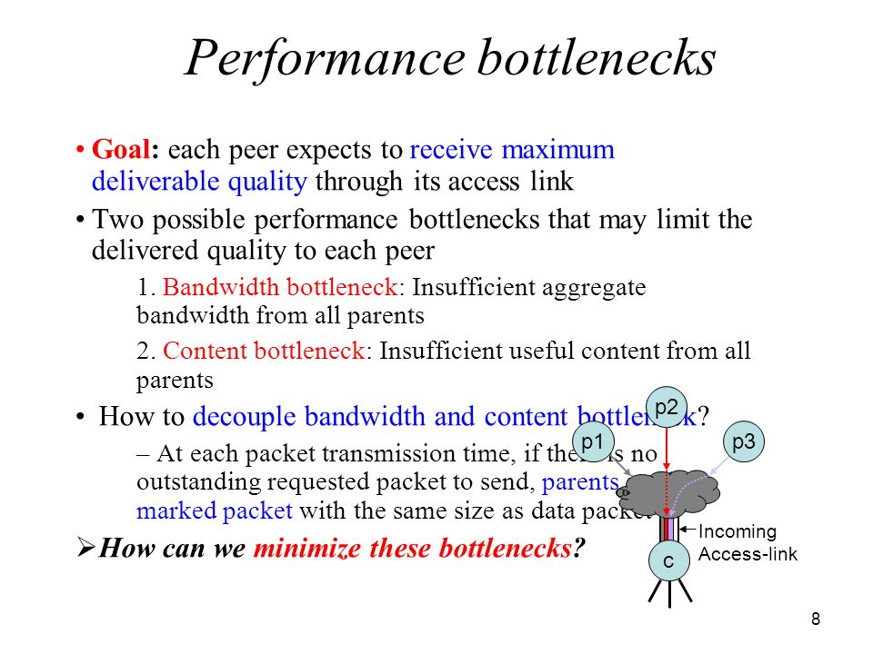 19 How are the delivered quality and buffer requirements for high bandwidth peers affected by the presence of low BW peers.