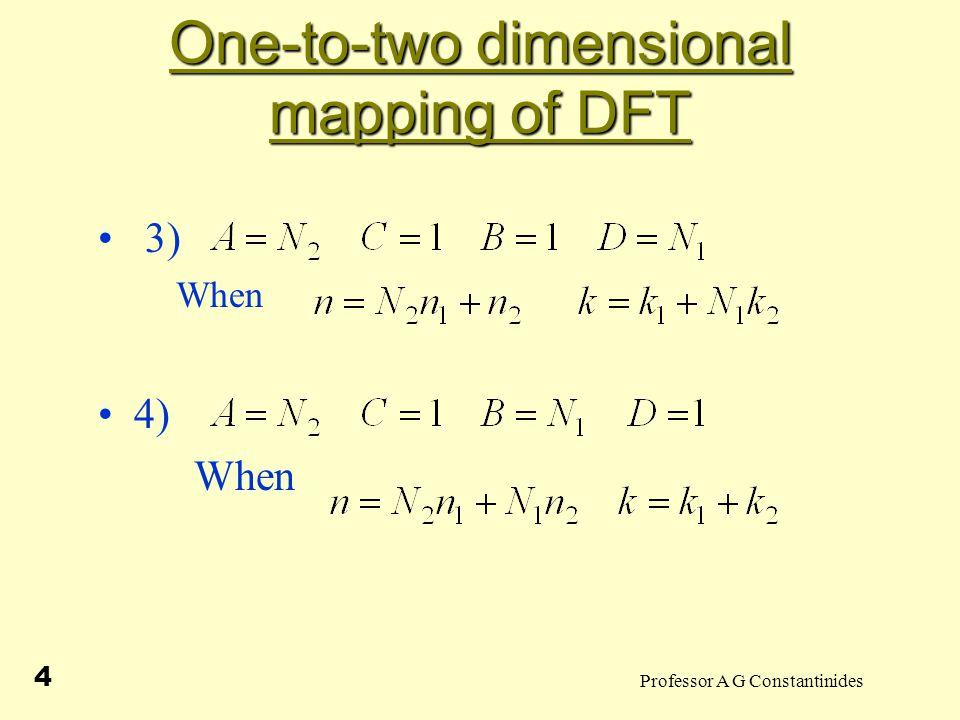 Professor A G Constantinides 15 Prime Radix Algorithm Finite duration signal DFT Setso that