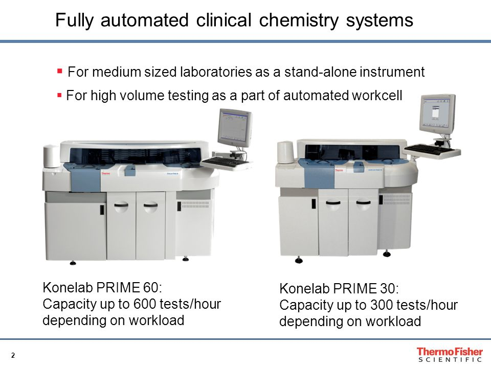 23 Konelab PRIME 60 and PRIME 30 Operational efficiency and accurate results!
