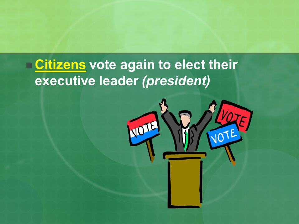 Citizens vote again to elect their executive leader (president)